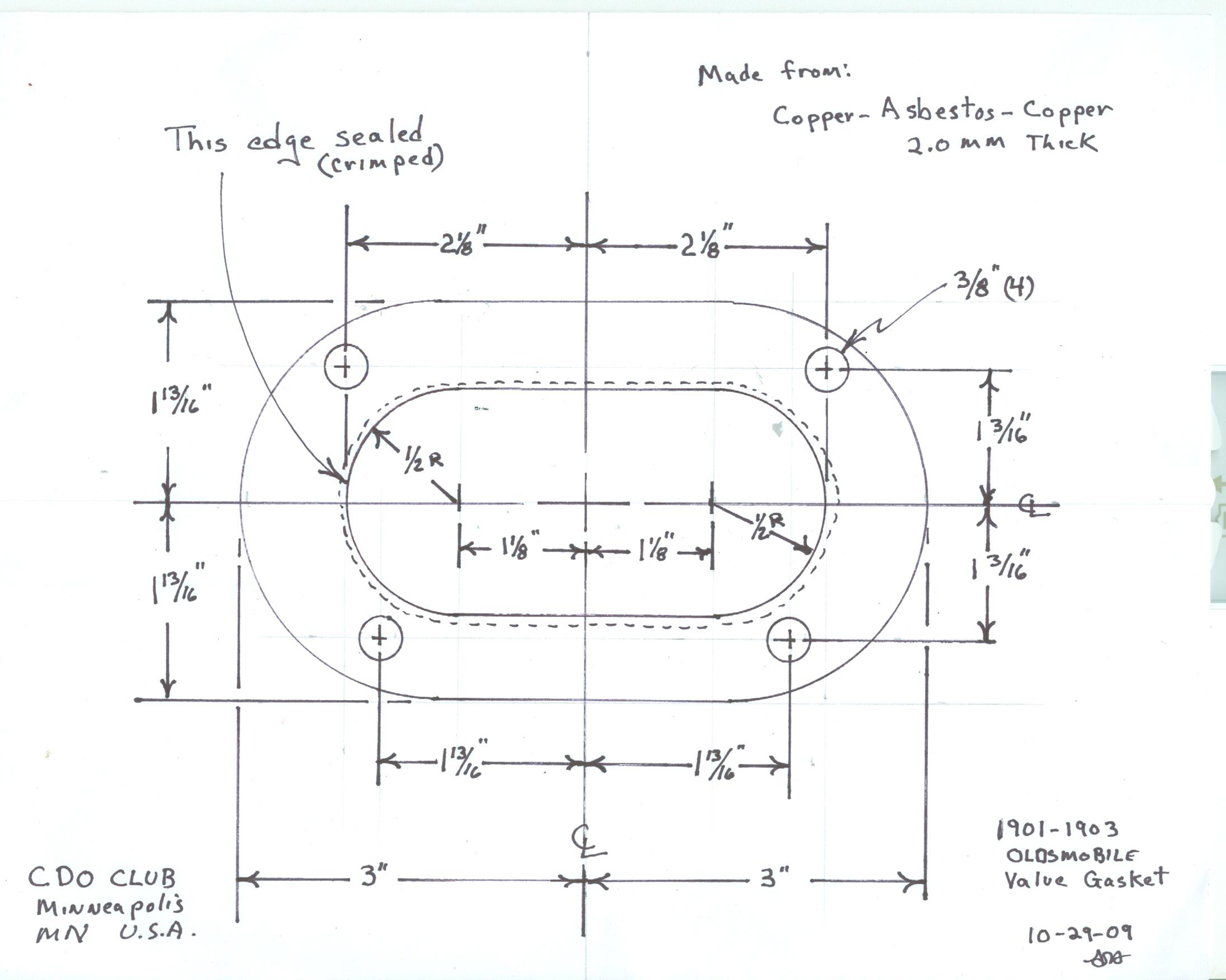 of the valve cover gasket and a scan with dimensions for the head  gasket in order to order enough of these gaskets to keep these machines  running